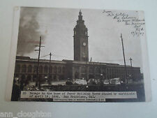 Rare Old PC Damage Ferry Building Tower Earthquake San Francisco 18 April 1906