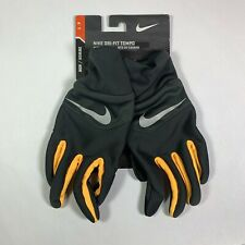 Nike Men's DRI-FIT Tempo Running Gloves Black/ Yellow - Size Small S