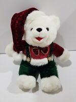 "Dan Dee Snowflake Teddy Holiday Bear 2002 14"" Plush Soft Toy Stuffed Animal"