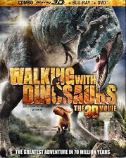 NEW BLU RAY 3D + BLU RAY + DVD set - WALKING WITH DINOSAURS 3D - w/SLIP COVER