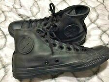 Converse All Star Chuck Taylor leather hi top unisex shoes black