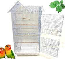 "37"" Large Portable Hanging Flight Bird Cage Canary Aviary Quaker LoveBird Finch"
