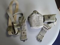 US Army Military Canteen with Cup, Cover & Belts WWII