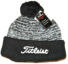 TITLEIST THERMO PERFORMANCE GOLF BOBBLE HAT ONE SIZE BLACK/WHITE BRAND NEW