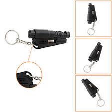 Black Chic Keychain Car Emergency Rescue Glass Breaker Seat Belt Cutter Hammer