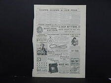 Illustrated London News Ads ONE Double-Sided Page c1888 S2#09 Cooper & Co's Teas