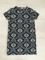 TU THICK TEXTURED STRETCHY JERSEY TAPESTRY TUNIC DRESS SIZE 12