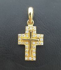 Miran 800570 18k YG Diamond Cross Pendant TDW: 0.14ct 1.0g RRP $650
