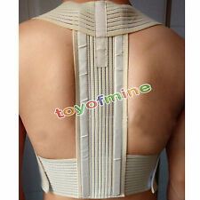 New Metal Rod Posture Back Corrector Shoulder Support Brace Sport Belt Vest
