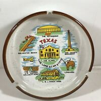 Vintage Ceramic TEXAS Souvenir Ashtray