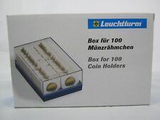 Leuchtturm Kunststoffbox für 100 Münzrähmchen, blau (315511)