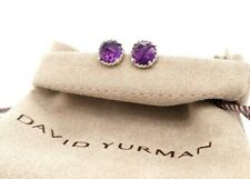 David Yurman Chatelaine Earrings with Amethyst Sterling Silver 8mm
