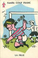 SPORT FOOTBALL FILLE HUMOUR HUMOR 50s PLAYING CARD CARTE A JOUER