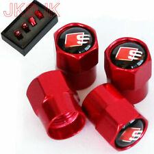 4 Stück Rot Sport Reifen Ventilkappen Ventile Cap Reifenventil Für S-line