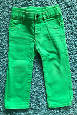 Gap Baby Boy Pull on Straight Knit Denim Jeans - Size 18 - 24 months Green
