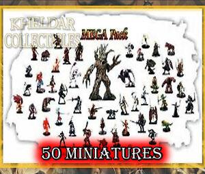 50 PACK LOT - Dungeons & Dragons / Pathfinder Miniatures, D&D RPG Figures, Minis