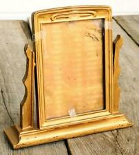 Vintage Picture Frame Wooden Gold Tone Angle Ajustable props Unusual Old Find Aj