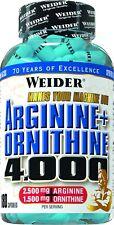 16,24€/100g Weider Arginin + Ornithin 4000 Hochwertig Fitness 180 Kapseln