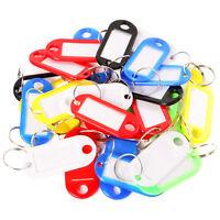 30 Stück Schlüsselschilder Schlüsselanhänger zum Beschriften zufällig Farbe