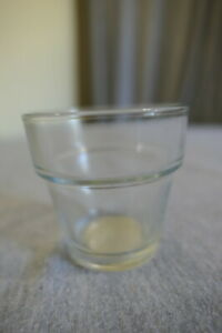 NEW Crisa Clear Glass Votive Tea Light Candle Flower Pot Holder Cup Mexico