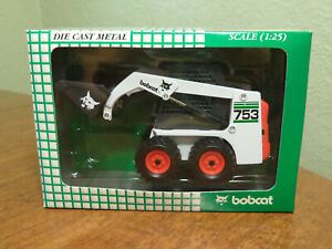 Bobcat 753 Green Skid Steer Loader Wan Ho Diecast 1:25 Scale Model NIB