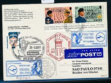 66715) LH FF München - Sao Paulo Brasilien 26.3.2001, card Jersey