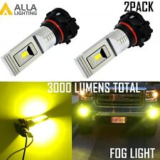 Alla Lighting 5202 LED Fog Light Driving Bulb Lamp Replacement Golden Yellow, 2x