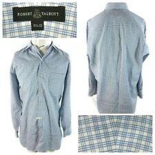 Robert Talbott Blue Plaid Long Sleeve Dress Shirt Men's Size 15.5/33 (H)