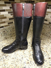 ** BEST BUY** ARIAT WOMEN BOOTS 5.5 B EQUESTRIAN RIDING BLACK LEATHER MINT