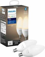 Philips Hue White E12 Bluetooth Smart LED Decorative Candle Bulb (2-Pack) -