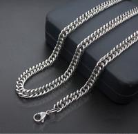 Silberkette Köngiskette 55cm Edelstahl Hip Hop Rapper Damen Herren Halskette 5MM