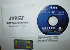 MSI Digi VOX MINI II v3.0 telecomando e software DVD, DVB-T Receiver ACCESSORI