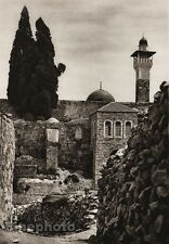1925 Vintage JERUSALEM Place Of Temple ISRAEL Palestine Architecture Photo Art