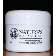 Nature's Botanical 50g Creme Cream Tub  - Natural Rosemary & Cedarwood Oils