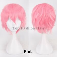 Women Mens Straight Short Animen Wig Synthetic Hair Wig Caoplay Costume Rave tw