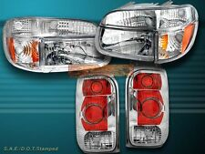 98 99 00 01 FORD EXPLORER CHROME HEADLIGHTS+SIGNAL CORNER+ALTEZZA TAIL LIGHTS
