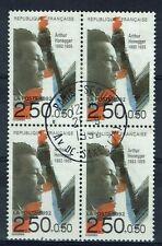 France, Arthur Honegger, musicien suisse, 1992, superbe bloc de 4 oblitéré