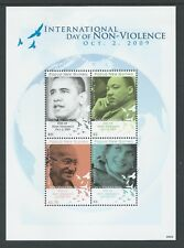 2009 PAPUA NEW GUINEA INTERNATIONAL DAY OF NON-VIOLENCE MINISHEET FINE MINT MNH