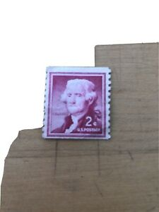 1954 2 cent Thomas Jefferson us stamp. Free Shipping.