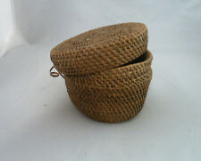 """Native American Weave Small Covered Bowl. Very Nice Design Approx 5"""" W x 2.75"""" T"""