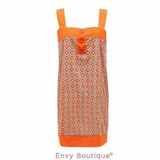 Knee Length Cotton Sleeveless Tunic Dresses for Women