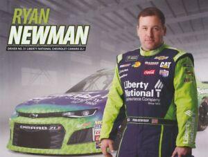 2018 Ryan Newman Liberty National Chevy Camaro NASCAR MENCS postcard