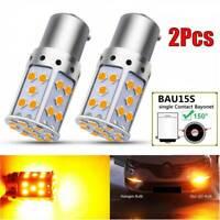 2x Bau15s 7507 PY21W No Hyper Flash Amber Error Free LED Turn Signal Light Bulbs