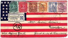 Mexico FRONT ONLY-Sc#242-48(faults)-U.S.SPANISH AMERICAN WAR PATRIO
