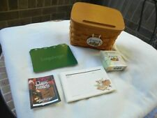 Longaberger 2000 Recipe Basket With Lid, Tie-on, 25 Recipe Cards, Dividers