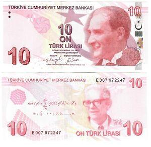 Turkey 10 Lira 2009 (2021) UNC
