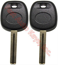 2 NEW FOR HYUNDAI KIA REPLACEMENT TRANSPONDER CHIPPED UNCUT BLADE KEY BLANK