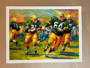 Green Bay Packers, Lombardi Sweep Lithograph by Farley. 20 x 25in.