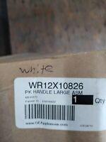 WR12X10826 GE PK HANDLE LARGE ASM-WHITE