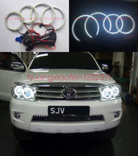 4x Excellent SMD Angel Eyes kit Halo Rings For Toyota FORTUNER 2008 2009 2010